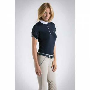 Anna Scarpati Fanna Competition Shirt - Navy Blue