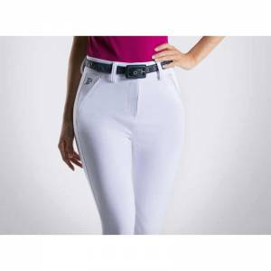 Anna Scarpati Scar Full Breeches - White - Front View