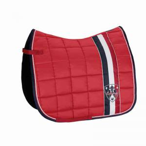 Eskkadron Big Square Saddle Pad - Pepper Red