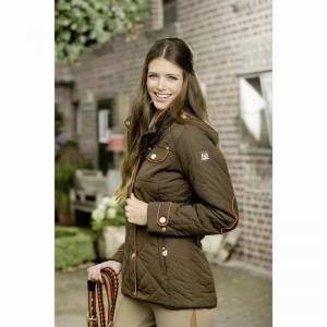 HKM Lauria Garrelli Golden Gate Riding Jacket - Brown - Front View