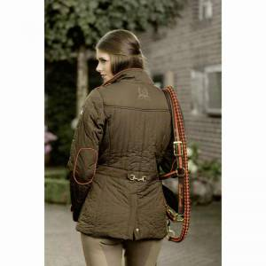 HKM Lauria Garrelli Golden Gate Riding Jacket - Brown - Rear View