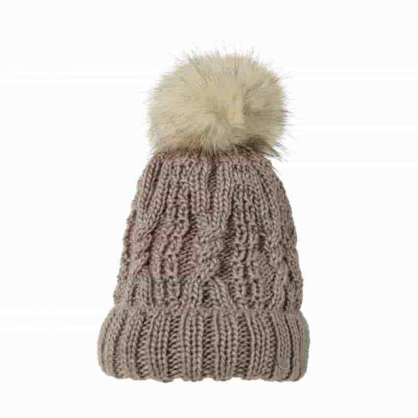 Pikeur Bobble Hat - Light Taupe