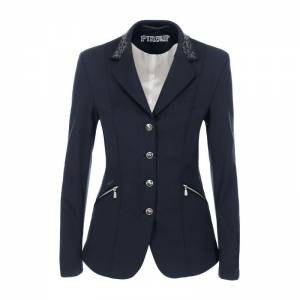 Pikeur Saphira Competition Jacket - Navy Blue - Front View