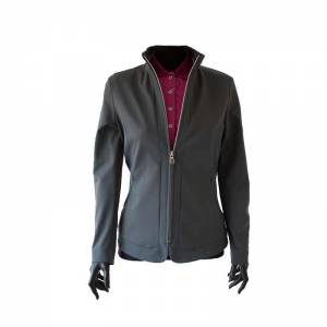 Animo Lerfo Softshell Jacket - Grey - Unzipped View