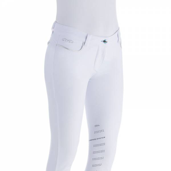 Animo Numana Competition Breeches - Front View - White