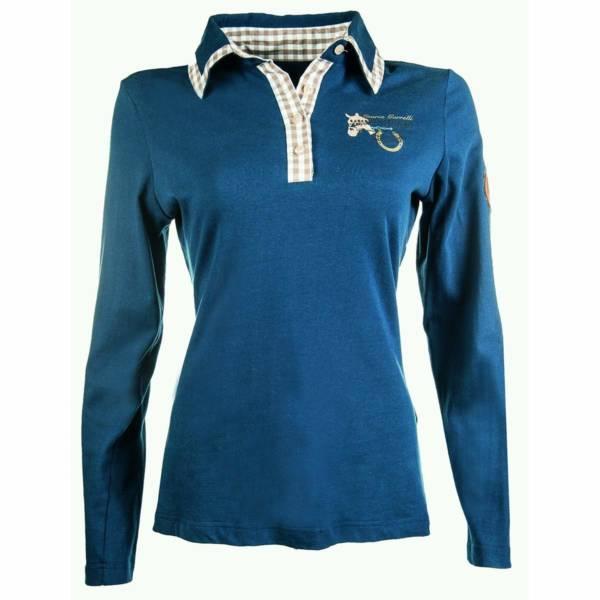 HKM Lauria Garrelli Roma Polo Shirt Navy Blue - Front